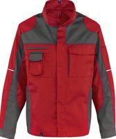 KÜBLER-Workwear-Arbeits-Berufs-Bund-Jacke Image Vision Dress, MG 295, mittelrot/anthrazit