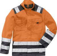 KÜBLER-Workwear-Warn-Schutz-Arbeits-Berufs-Jacke, H-Vis.Inno Plus, MG 270, warnorange/anthr