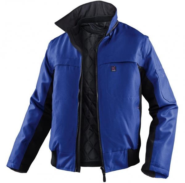 KÜBLER-Workwear-Winter-Piloten-Arbeits-Berufs-Jacke, Wetter Dress Inno Plus, kornblau/schwarz