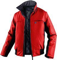 KÜBLER-Workwear-Winter-Piloten-Arbeits-Berufs-Jacke, Wetter Dress Inno Plus, mittelrot/schwarz
