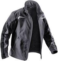 KÜBLER-Workwear-Weather-Dress, Winter-Softshell-Arbeits-Berufs-Jacke, anthrazit/schwarz