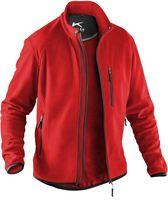 KÜBLER-Workwear-Weather-Fleece-Arbeits-Berufs-Jacke, ca. 245g/m², mittelrot