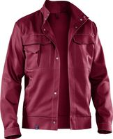 KÜBLER-Workwear-Arbeits-Berufs-Bund-Jacke, Organiq, BW330, bordeaux