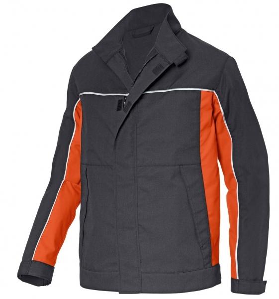 KÜBLER--Workwear-Arbeits-Berufs-Bund-Jacke, PSA-Kermel Top-Jacke, ca. 230g/m², dunkelgrau/orange