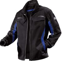 KÜBLER-Workwear-Arbeits-Berufs-Bund-Jacke, Pulsschlag, MG260, schwarz/kornblau