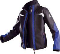 KÜBLER-Workwear-Kinder Softshelljacke, schwarz/kornblau