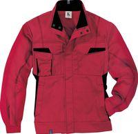 KÜBLER-Workwear-Arbeits-Berufs-Bund-Jacke, MG 320, mittelrot/schwa