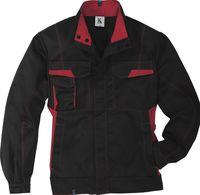 KÜBLER-Workwear-Arbeits-Berufs-Bund-Jacke, MG 320, schwarz/mittelr