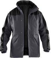 KÜBLER-Workwear-Doppel-Arbeits-Berufs-Jacke, Wetter-Regen-Nässe-Schutz, Dress Inno Plus, anthrazit/schwarz