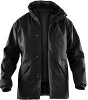 KÜBLER-Workwear-Doppel-Arbeits-Berufs-Jacke, Wetter-Dress Regen-Nässe-Schutz, Inno Plus, schwarz