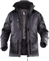 KÜBLER-Workwear-Wetterschutz, Winter-Arbeits-Berufs-Parka, Wetter Dress, MG165, dunkelgrau/schwar