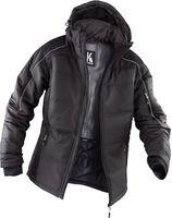 KÜBLER-Workwear-Winter-Wetter-Arbeits-Berufs-Jacke, Steppjacke, dunkelgrau/schwarz