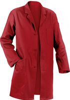 KÜBLER-Workwear-Berufs-Mantel, Arbeits-Kittel, Quality Dress, BW285, mittelrot
