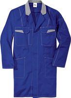 KÜBLER-Workwear-Berufs-Mantel, Arbeits-Kittel, MG 240, kornblau/mittelgra