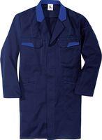 KÜBLER-Workwear-Berufs-Mantel, Arbeits-Kittel, Image Dress New Design, MG 240, dunkelblau/kornbla
