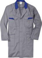 KÜBLER-Workwear-Berufs-Mantel, Arbeits-Kittel, MG 240, mittelgrau/kornbla