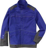 KÜBLER-Workwear-Schweißer-Arbeits-Schutz-Schutz-Berufs-Jacke, Safety X6, MG350, kornblau/a