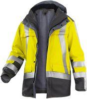 KÜBLER-Workwear-Warn-Schutz-Arbeits-Berufs-Parka, High Visibility Safety X8, warngelb/anth
