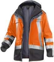 KÜBLER-Workwear-Warn-Schutz-Arbeits-Berufs-Parka, High Visibility Safety X8, warnorange/an