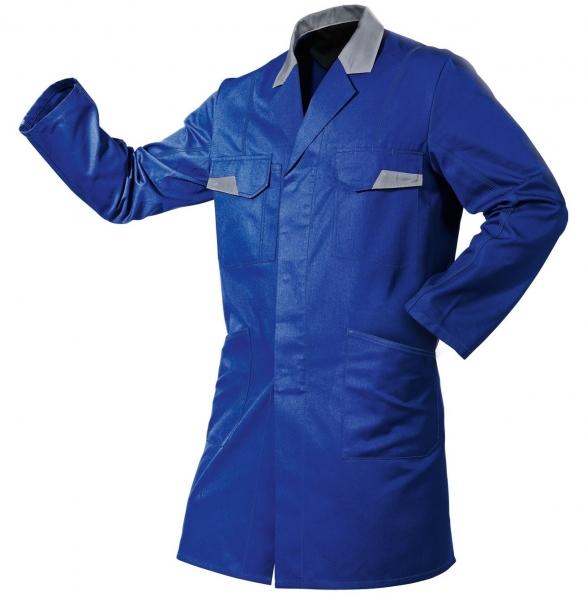KÜBLER-Workwear-Vita mix, Berufs-Mantel, Arbeits-Kittel, ca. 270g/m², kbl.blau/mittelgrau