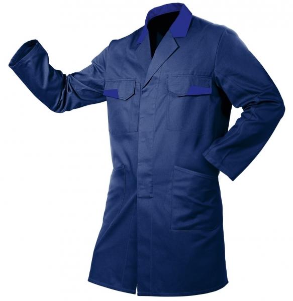 KÜBLER-Workwear-Vita mix, Berufs-Mantel, Arbeits-Kittel, ca. 270g/m², dunkelblau/kbl.blau