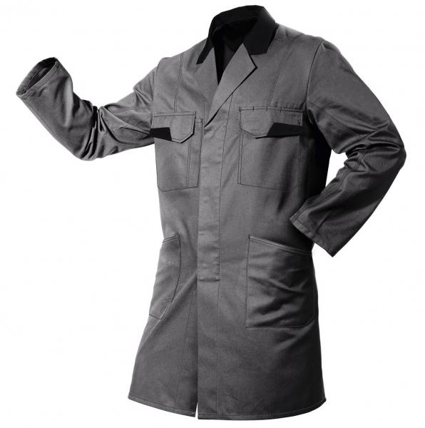 KÜBLER-Workwear-Vita mix, Berufs-Mantel, Arbeits-Kittel, ca. 270g/m², anthrazit/schwarz