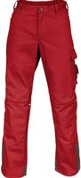 KÜBLER-Workwear-Arbeits-Berufs-Bund-Hose, Image Vision Dress, MG 295, mittelrot/anthrazit