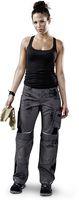 KÜBLER-Workwear-Damen-Arbeits-Berufs-Bund-Hose, Pulsschlag, High, MG 260, anthrazit/schwarz