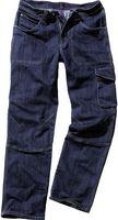 KÜBLER-Workwear-Arbeits-Berufs-Bund-Hose, Denim 24*7, blau