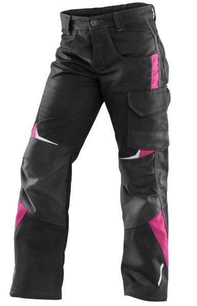 KÜBLER-Kinderhose, Pulsschlag, schwarz/pink