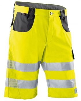 KÜBLER-Workwear-REFLECTIQ Warn-Schutz-Shorts, warngelb / anthrazit