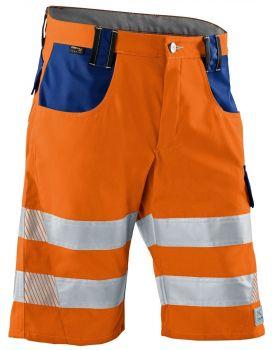 KÜBLER-Workwear-REFLECTIQ Warn-Schutz-Shorts, warnorange / kornblau