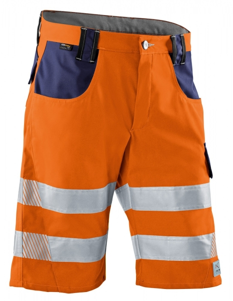 KÜBLER-REFLECTIQ Shorts, warnorange / dunkelblau
