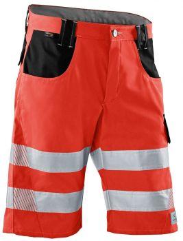 KÜBLER-Workwear-REFLECTIQ Warn-Schutz-Shorts, warnrot / schwarz
