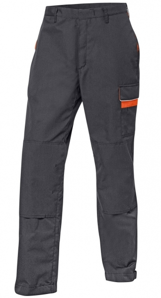 KÜBLER-PSA Kermel-Top-Bundhose, Workwear-Arbeits-Berufs-Bund-Hose, ca. 230g/m², dunkelgrau/orange