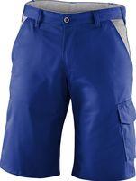 KÜBLER-Workwear-Bermuda-Arbeits-Berufs-Shorts, Identiq mix, 245 g/m², kornblau/mittelgrau