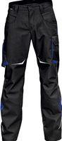 KÜBLER-Workwear-Arbeits-Berufs-Bund-Hose, Pulsschlag, Low, MG 260, schwarz/kornblau