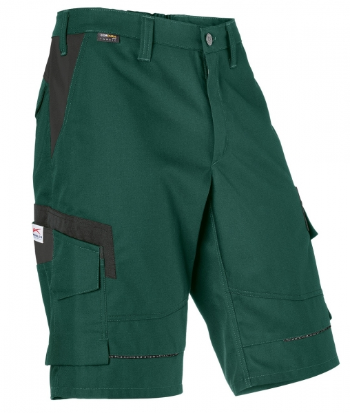 KÜBLER-Shorts, Innovatiq, 295 g/m², moosgrün/schwarz