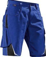 KÜBLER-Workwear-Bermuda-Arbeits-Berufs-Shorts, Pulsschlag, ca. 260 g/m², kornblau/schwarz