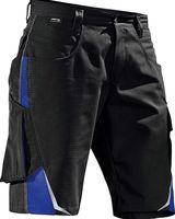 KÜBLER-Workwear-Bermuda-Arbeits-Berufs-Shorts, Pulsschlag, ca. 260g/m², schwarz/kornblau