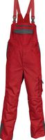 KÜBLER-Workwear-Arbeits-Berufs-Latz-Hose, Image Vision Dress, MG 295, mittelrot/anthrazit