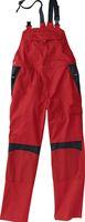KÜBLER-Workwear-Arbeits-Berufs-Latz-Hose, Inno Plus Dress, MG 300, mittelrot/schwarz