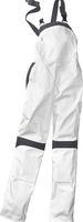 KÜBLER-Workwear-Damen-Arbeits-Berufs-Latz-Hose Inno Plus Dress, MG 300, weiß/anthrazit