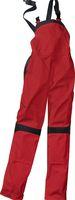 KÜBLER-Workwear-Damen-Arbeits-Berufs-Latz-Hose Inno Plus Dress, MG 300, mittelrot/schwarz