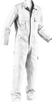 KÜBLER-Workwear-Rallye-Kombi, Arbeits-Berufs-Overall Quality Dress, BW 285, weiß-gebleicht