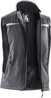 KÜBLER-Workwear-Softshell Arbeits-Berufs-Weste, MG320, anthrazit/schwarz