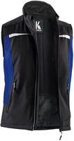 KÜBLER-Workwear-Softshell Arbeits-Berufs-Weste, MG320, schwarz/kornblau