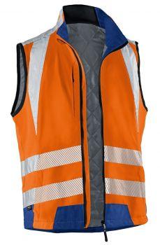 KÜBLER-Workwear-REFLECTIQ Warn-Schutz-Weste, warnorange / kornblau