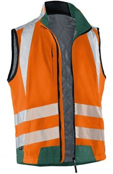KÜBLER-Workwear-REFLECTIQ Warn-Schutz-Weste, warnorange / moosgrün