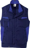 KÜBLER-Workwear-Arbeits-Berufs-Weste Image Dress New Design, MG 320, dunkelblau/kornblau